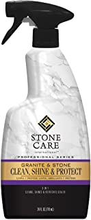Stone Care International Granite Cleaner, Polish, and Sealer - 24 Ounce - Cleans Polishes and Seals Stone Granite Quartz Marble Limestone Travertine Slate Surfaces