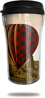 FTRGRAFE Hot Air Balloon HD Wallpaper Travel Coffee Mug 3D Printed Portable Vacuum Cup,Insulated Tea Cup Water Bottle Tumblers for Drinking with Lid 8.54 Oz (250 Ml)