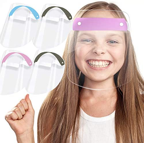 Face Pack of 5 Full Face Protect Eyes Kids Size 10 17 Plastic Face with Clear Protective Film product image