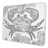 Juzijiang Tapis De Souris Gaming Mouse Pad Coloriage Crabe orné, Base en Caoutchouc Antidérapant Surface Spéciale Texturée, Gaming Mousepad