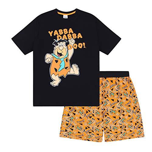 Familie Feuerstein - Herren Schlafanzug - kurz - Retro-Design mit Fred Feuerstein - offizielles Merchandise - S
