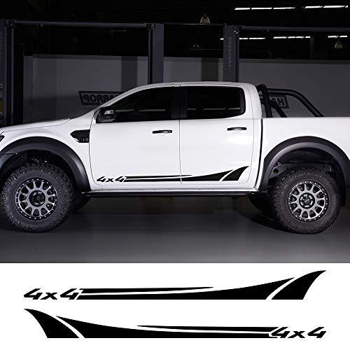 HLLebw Auto Pegatinas de Calcomanías, For Ford Ranger Raptor, For Isuzu DMA, For Nissan NAVARA, For Toyota Hilux Pickup