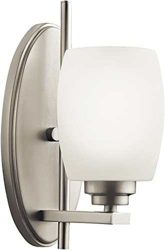 wholesale Kichler wholesale 5096NI popular One Light Wall Sconce, 1, Brushed Nickel outlet sale