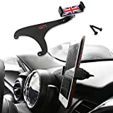 GTinthebox Smartphone Cell Phone Cup Mount Holder with Cradle Rotatable Clip ( Red & Blue Union Jack Flag Style, 3.5-5.5 Inch Phone) for 2017 Mini Cooper Countryman F54 F55 F56 F57 F60, 1 Pack
