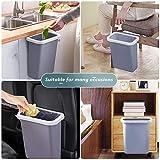 TTMOW Mülleimer Küche Klein, Neue Generation 10L Abfalleimer Küche Für Schranktür (Grau) - 3