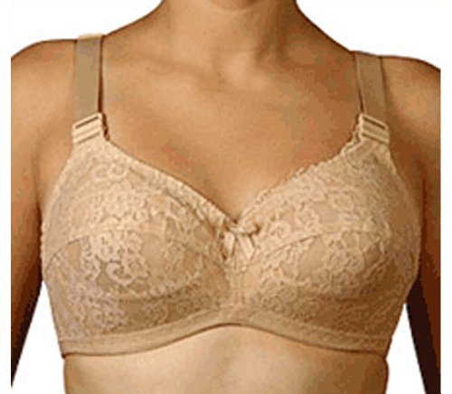 Jeunique J51 Women's Soft Cup Wire Free Nursing Bra 44JJ Beige