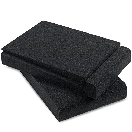 Sound Addicted - Studio Monitor Isolation Pads for 5'' Inch Monitors, Pair of Two High Density Acoustic Foam which Fits most Speaker Stands | SMPad 5