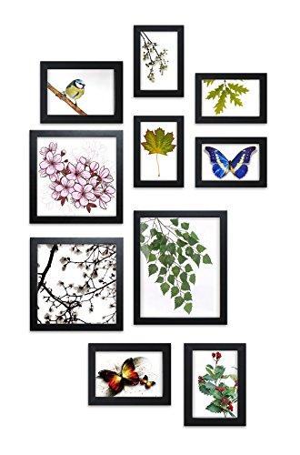 Close Up® Design Rahmen Collage Set 10-teilig, Premium - Holz, 4 versch. Größen schwarz, Formate von 10x15cm bis 20x25cm