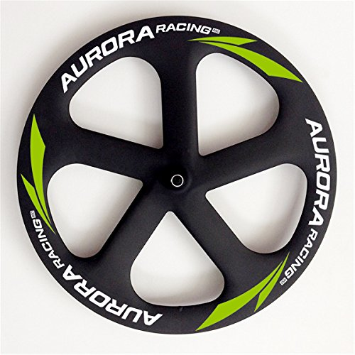 Aurora Racing en standard Road tubolare 5 spoke-disc Wheel Series leggero per strada 700 C ruota di bicicletta, 5s Road Front Wheels