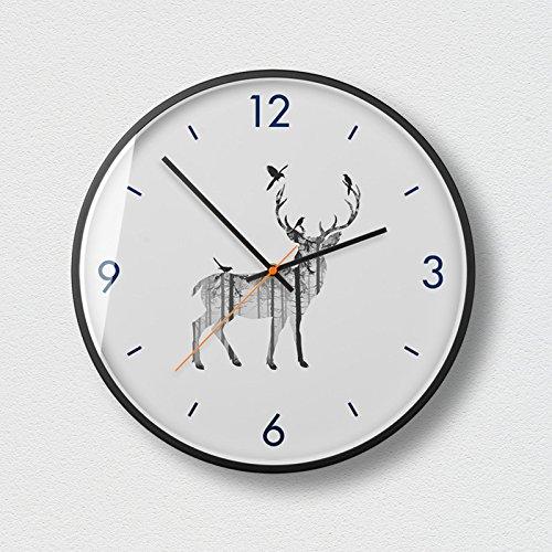 WuuLii Decor Horloge Murale - Horloge Murale Décor - Horloge Décorative pour Salon, Chambre Horloge Murale Silencieuse sans Couturière Art Petit Frais Créatif, 14 Pouces, 02
