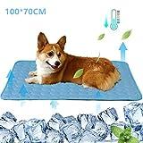 Dog Cooling Mat Pet Cooling Pad Cats Ice Silk Mat Dog Cooling Blanket