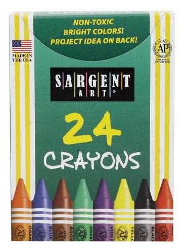 Sargent Art 22-0534 24-Crayons, Tuck Box