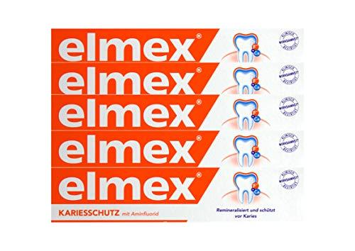 5x ELMEX KARIESSCHUTZ mit Aminfluorid Zahnpasta 75ml schützt vor Karies