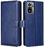 FMPCUON Hülle für Xiaomi Redmi Note 10 4G /Redmi Note 10S Handyhülle [Standfunktion] [Magnetverschluss] Tasche Flip Hülle Schutzhülle lederhülle flip case für Redmi Note 10S Blau
