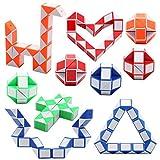 CHARLLEAN 24 Knoten Puzzle Magische Schlange Spielzeug, Mini Schlangen Würfel, Kinder Spiel...