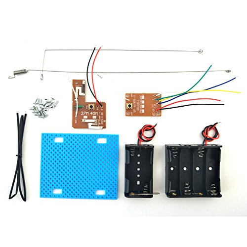 EUDAX Simple Radio RC Transmitter Receiver Kit for DIY Remote Control Boat Car Projects (27M 4CH)