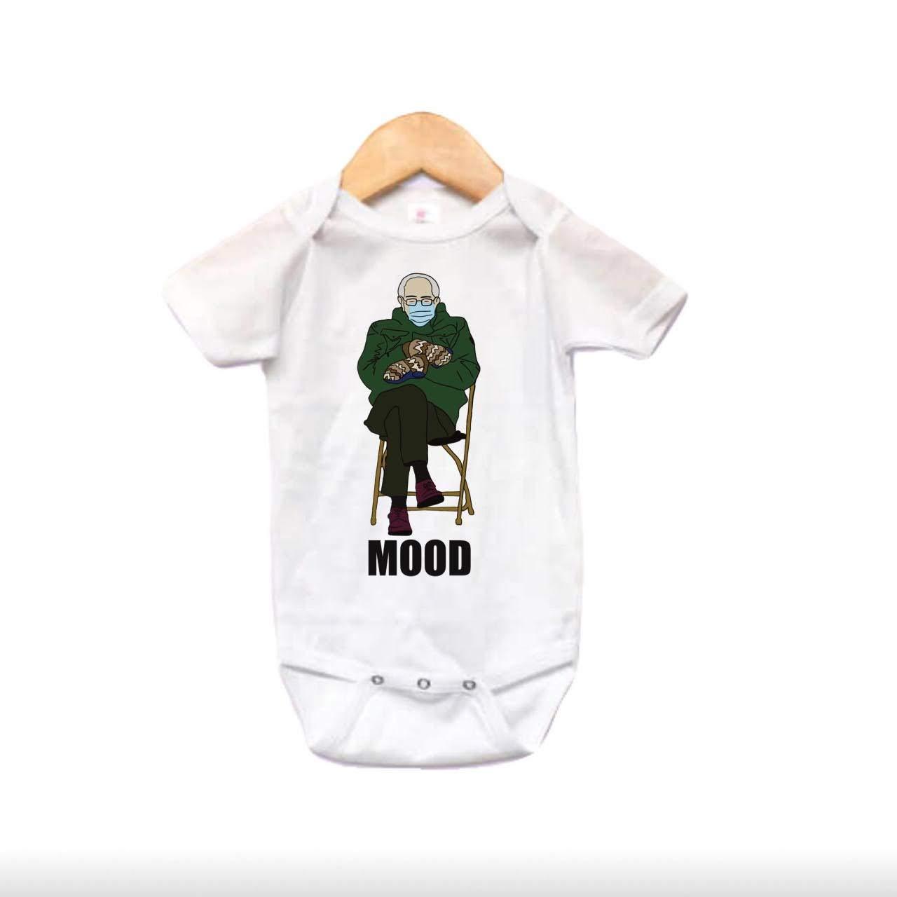 Bernie Sanders mittens baby bodysuit Genuine Free Shipping shopping
