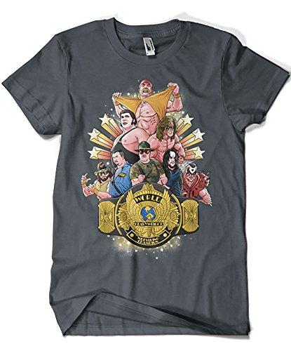 4603-Camiseta Premium, Wrestling Legends (Skullpy)