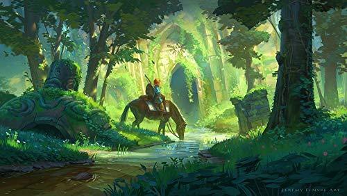 ZPDWT Puzzles 1000 Piezas-La Leyenda De Zelda-Juegos Educativos, Rompecabezas De Desafío Cerebral para Niños, Juguete De Regalo Ideal,50 × 75 Cm