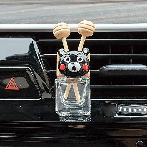 RAP creatieve cartoon auto airconditioner luchtuitlaat parfum clip schattige kleine verse auto luchtuitlaat parfum fles aromatherapie zwarte beer-parfum fles