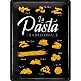 Nostalgic-Art Cartel de Chapa Retro Home & Country – Pasta Tradizionale – Idea de Regalo para la Cocina, metálico, Diseño Vintage, 30 x 40 cm