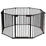 COSTWAY 8 Panels Baby Playpen Metal Foldable Design Multiple Use for Pet Fence