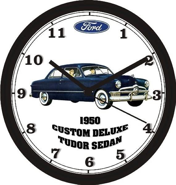 1950 福特定制豪华都铎轿车挂钟免费美国发货