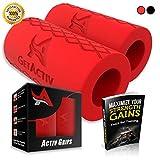 Activ Grips - Thick Bar Training Adapter [1 Set] w/Bonus E BOOK//Fat Grip Attachment Fits On...
