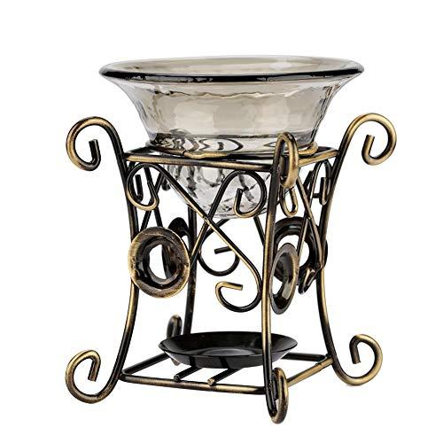 Eisen Aroma Ölbrenner, Ofen Kerzenbrenner Aromatherapie Ätherische Öllampe für Wohnzimmer Schlafzimmer Hotel Restaurant Büro(03)