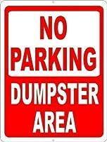 駐車場なしゴミ箱エリア金属錫サイン工業用サイン安全サイン