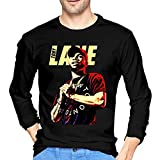 HaErBinBao Tory Lanez Long Sleeve T Shirt Mens Fashion Round Neck Cotton Tops Pullover Shirt Black