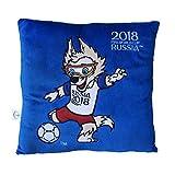 FIFA 2018 FIFA Weltmeisterschaft 2018 - Plüsch Kissen blau mit Maskottchen Zabivaka 30x30cm