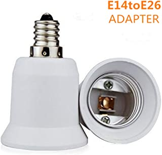 2-Pack E14 to E26 E27 Adapter Screw Light Socket Converter (E14 to E26 Adapter)