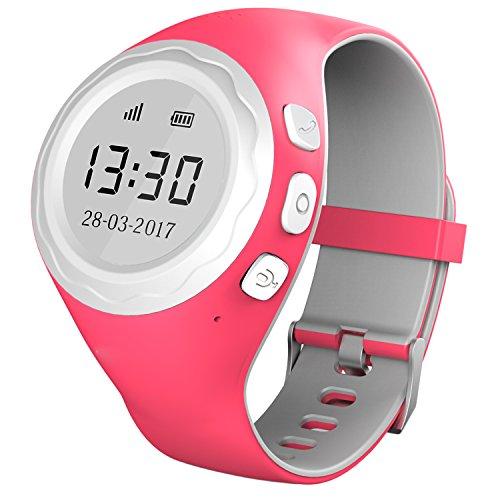 Pingonaut Kidswatch – Kinderuhr mit GPS & Telefonfunktion, Smartwatch für Kinder mit GPS-Tracker-App und SOS-Funktion, Softwareentwicklung & Hosting in Deutschland, SIM-Karte Inclusive, Himbeer-Pink