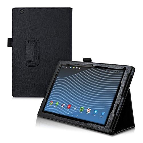 kwmobile Hülle kompatibel mit Sony Xperia Tablet Z4 - Slim Tablet Cover Case Schutzhülle mit Ständer Schwarz