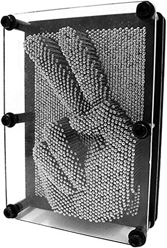 Adkwse 3D- Bild Captor Klon Pin Punkt Impression Intelligente Nagelspiel Spielzeug Dekoration (20* 15 * 4.5CM, Silber)