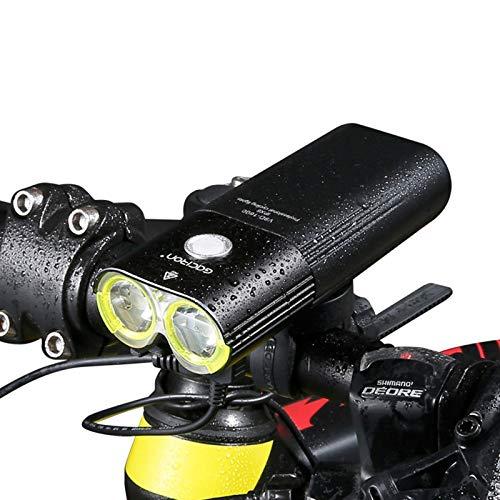 HBOY Faro de Bicicleta 1600 lúmenes, Luces de Bicicleta Delanteras Recargables, luz de Bicicleta Impermeable IPX6, Linterna de Seguridad para Ciclismo de montaña y Carretera