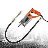 Agulha vibratória Hanchen 1280W Agulha vibratória de concreto 5000r / min industrial de alta potência com mangueira de 1,5 m, diâmetro da haste 35 mm CE