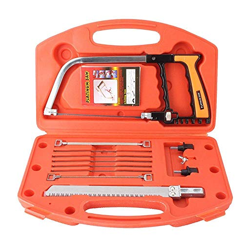 12Pcs Multifunction Handsaw Set,Hacksaw,Coping Saw, Bow Saw, Wood Saw, Steel Saw for Cutting Wood, Tile, Glass, Metal, Plastic, Ceramic Hunting, Camping, Pruning, DIY