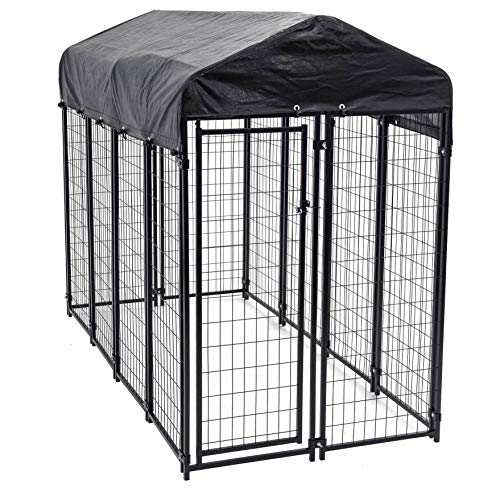 Heavy Duty Dog Cage – Lucky Dog Outdoor Pet...