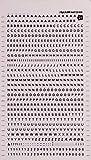 APLI DD21F - Letras y números transferibles negros 2,5 mm, 731 caracteres