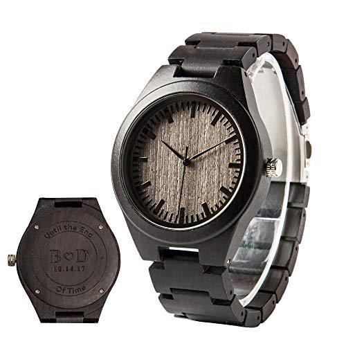 Persönliche Uhr mit Gravur Herrenuhr Holz Armbanduhr für Männer Geschenk Hochzeit Geschenke zum Jahrestag