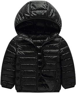 JIANLANPTT Kid Girl Boys Windproof Lightweight Hoodie Jacket Warm Coat Outerwear