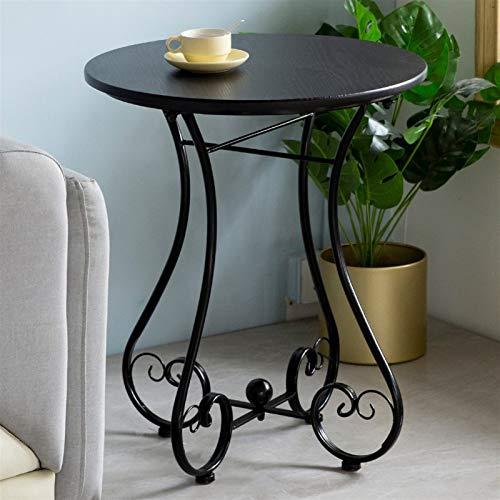 En fer forgé Petite table ronde Canapée Sofa Table de loisirs Balcon de loisirs Jardin extérieur Petite table ronde Diamètre 55cm (Couleur : B)