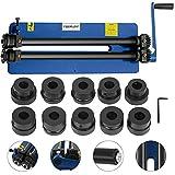 Máquina de doblar tubos de mano, curvadora de tuberías, máquina de doblado manual con 6 juegos de dados para hojas como cubeta del suelo del vehículo