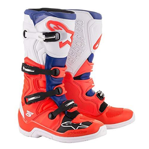 Alpinestars Men's Tech 5 Motocross Boots, Red/White/Black, 6