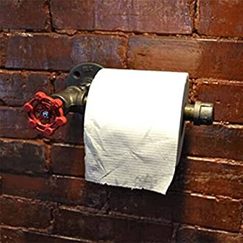 Diwhy industriale tubo Hardware bagno Set di tubi Decor 3/pezzi kit comprende gancio 45,7/cm portasciugamani e porta carta igienica Heavy Duty DIY stile moderno chic sfumato con finitura nera
