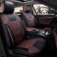 シートカバー車レザー 高級 Pu レザー カーシートカバークッション 5 座席用, スプリットベンチ 車用シートカバー 5枚セット (Color : A)