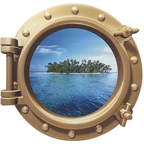 Cruise Ship Porthole Sticker - Social Distancing with a View - Cruise Cancellation Consolation