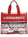 (ディースクエアード) DSQUARED2 PVC&レザートートバッグ (並行輸入品)